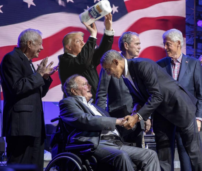 All LIVING US presidents in ONE picture
