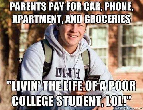 Poor college student