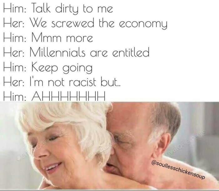 Old folks getting dirty